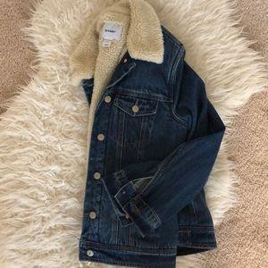 Sherpa lines jean jacket